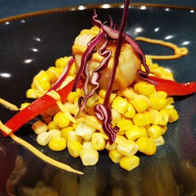 玉米北海道貝柱色拉